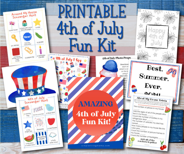 Patriotic and Fun Fourth of July Printable Activities for Kids
