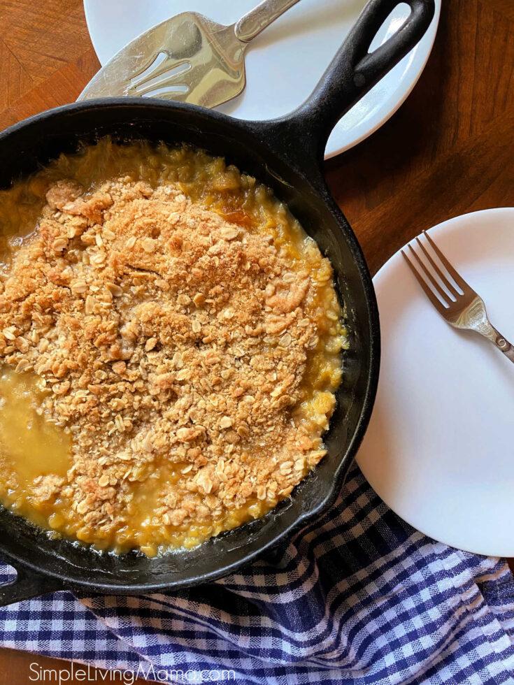 Cast iron skillet peach crisp recipe