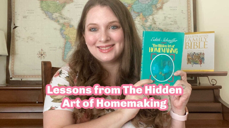 Lessons from the Hidden Art of Homemaking